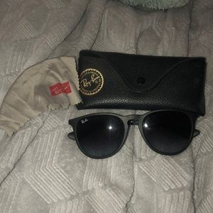 "Ray Ban ""Erika"" sunglasses with case and cloth"